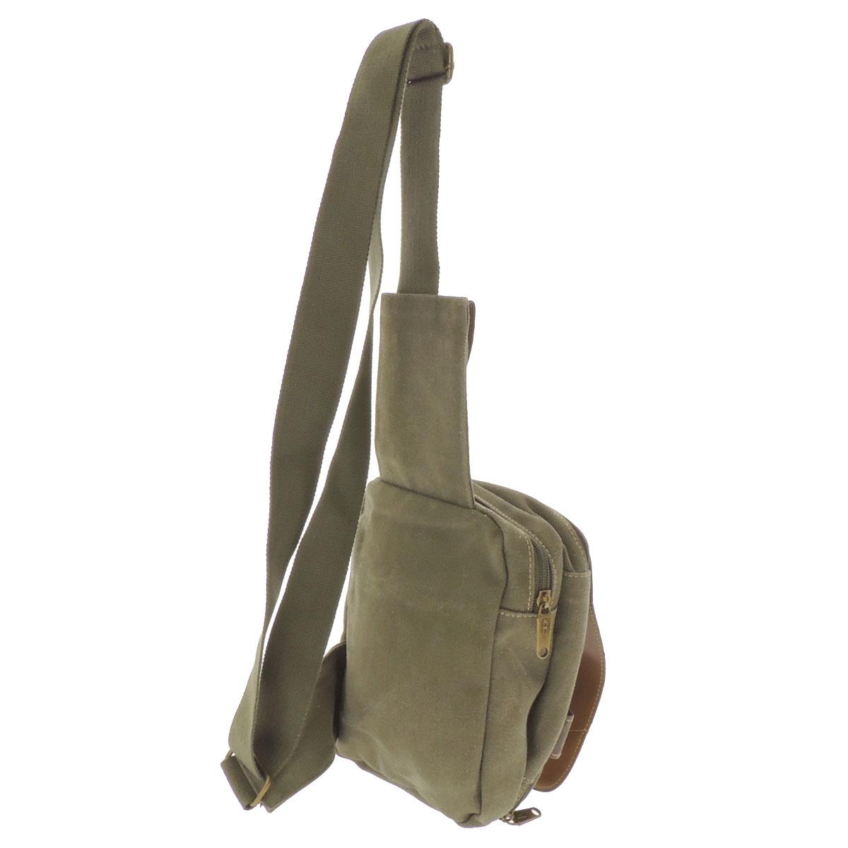 DIESEL logo carved seal shoulder bag canvas X leather is unisex