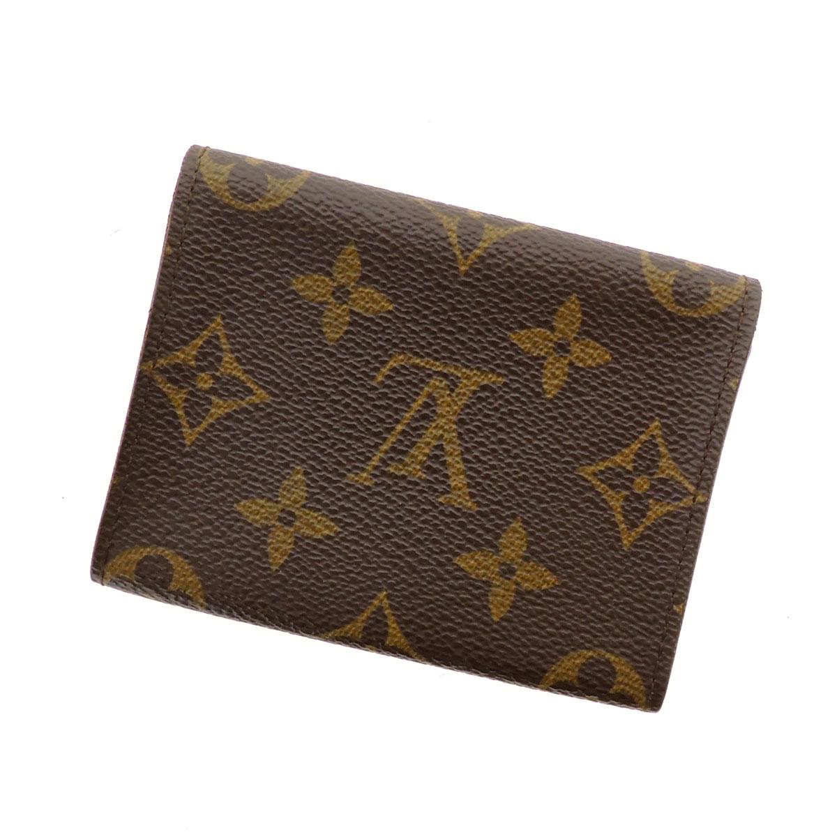 LOUIS VUITTON business card holder cult de visite M62920 business card holder gusset and card put the Monogram Canvas unisex