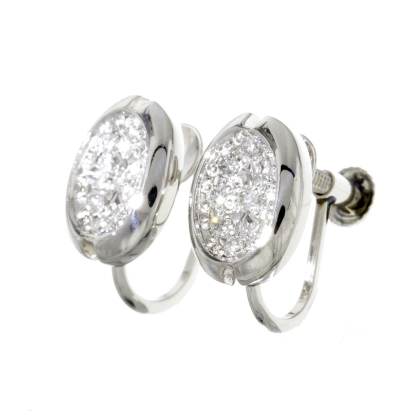 Diamond Earrings Platinum PT900 ladies