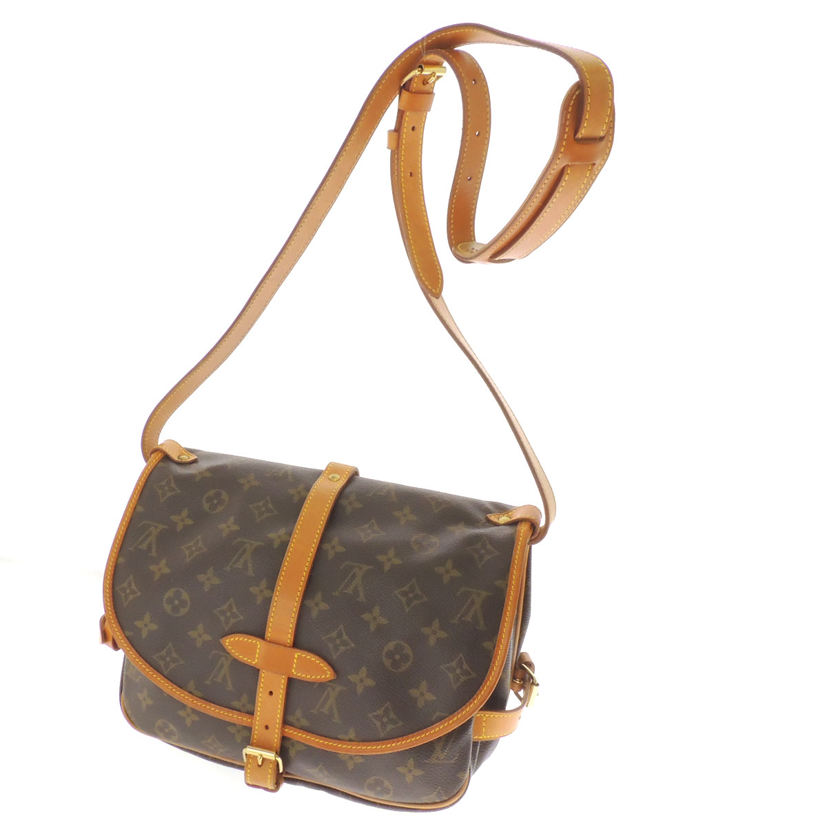 LOUIS VUITTON Saumur M M42254 shoulder bag monogram canvas Lady's fs3gm