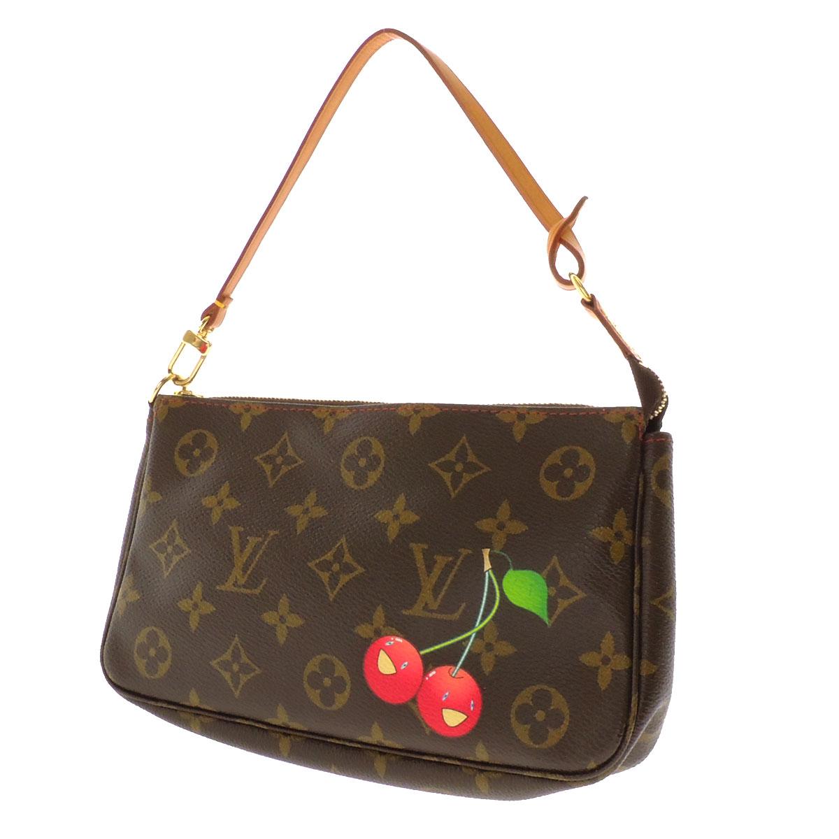 LOUIS VUITTON ポシェットアクセソワール M51980 accessory pouch cherry Monogram Canvas ladies