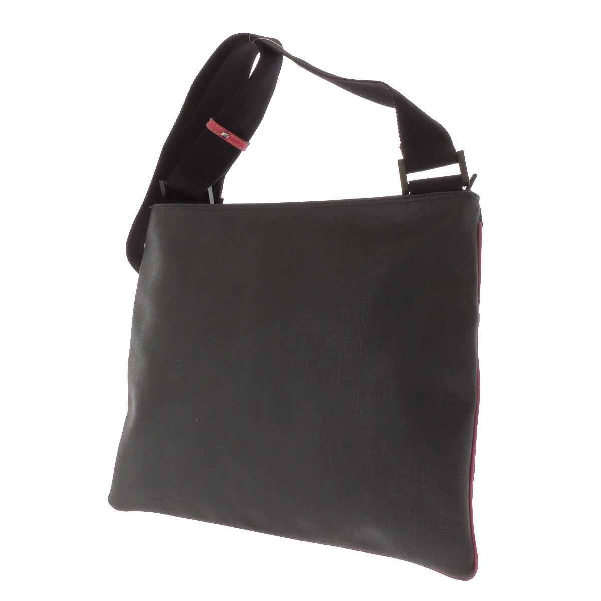 GUCCI logo shoulder bag PVC ladies