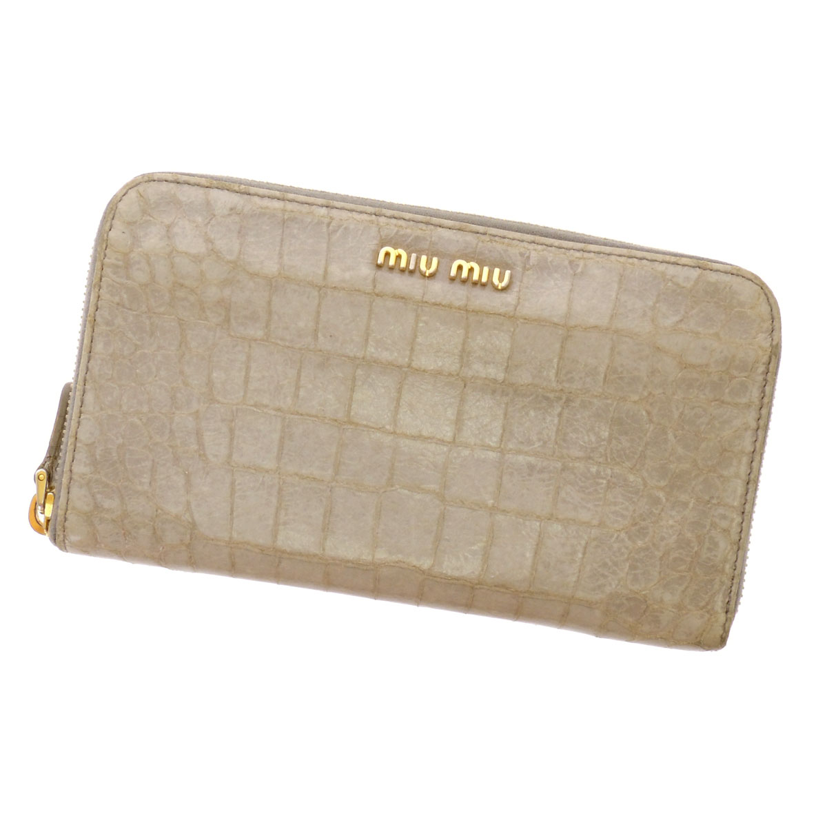 MIUMIU logo with wallets ( purses and ) Leather Womens