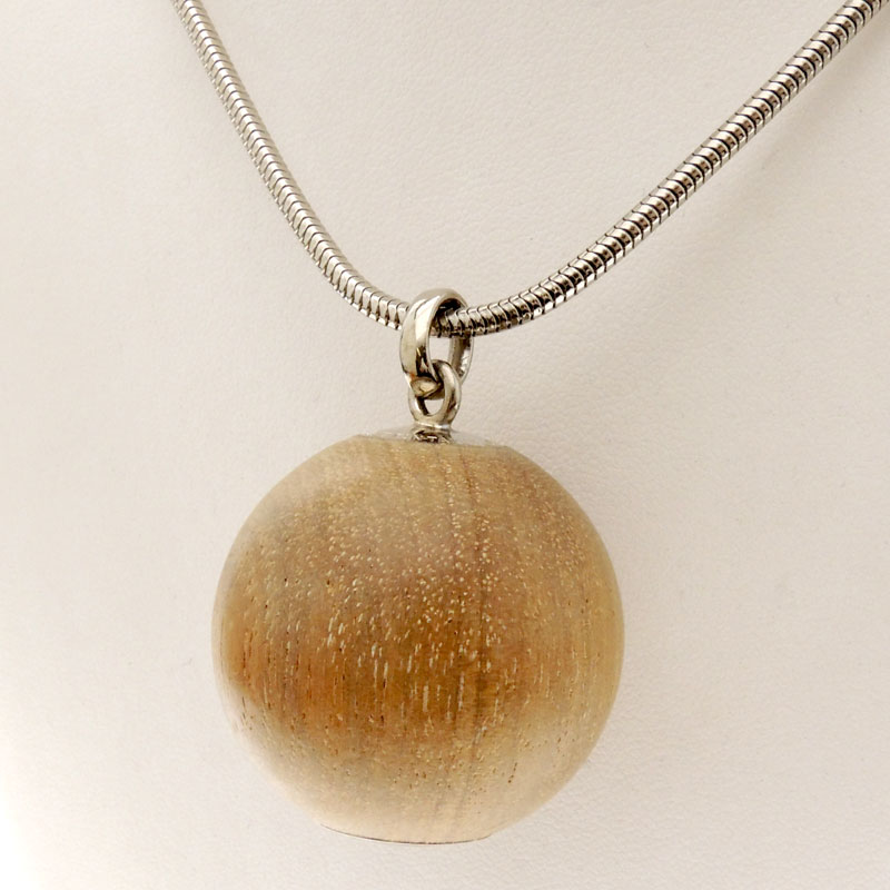 HERMES wooden top Serie necklace pendant Lady's fs3gm