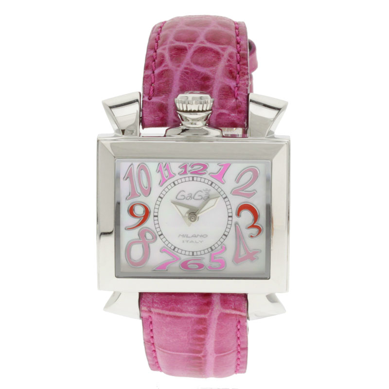 GAGA MILANO Napoleone watch SS / Leather Womens