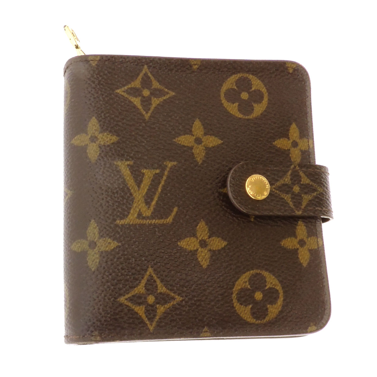 LOUIS VUITTON compact ZIP Zip M61667 two bi-fold wallets (purses and) Monogram Canvas ladies