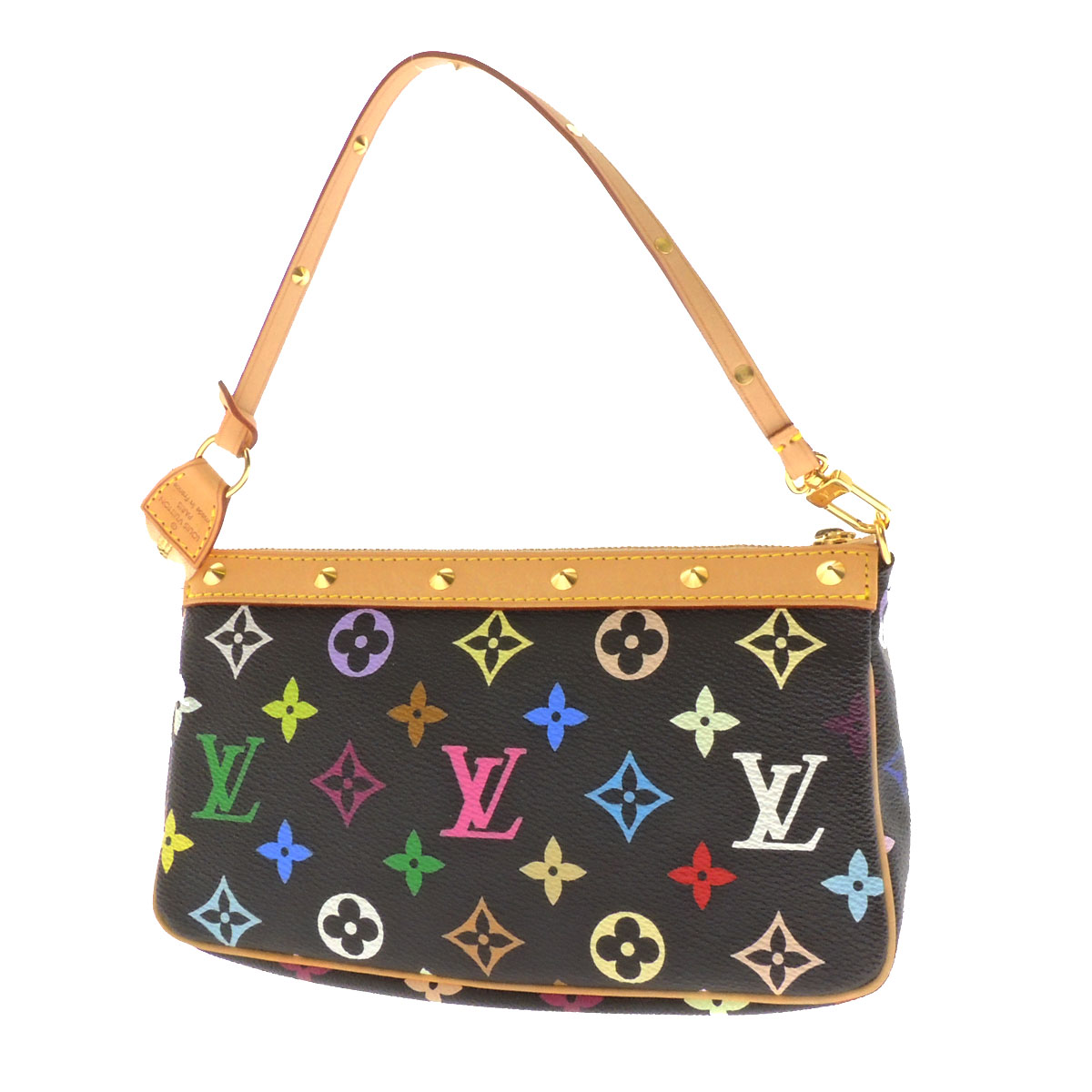 LOUIS VUITTON ポシェットアクセソワール M92648 accessories porch monogram multicolored canvas Lady's fs3gm