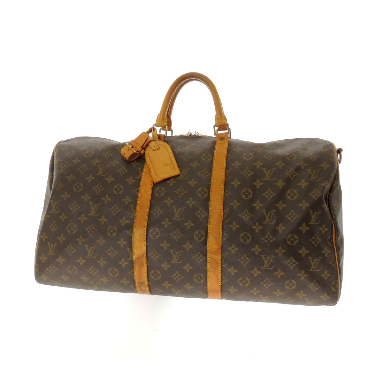 41424 LOUIS VUITTON keepall 55 with shoulder strap bag Monogram Canvas unisex