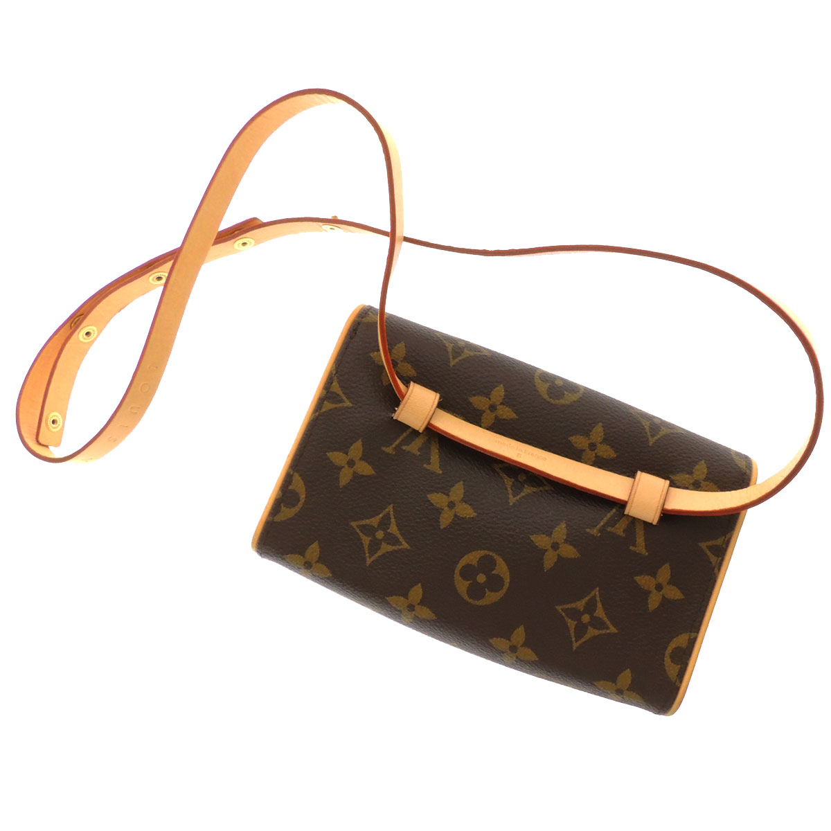 Women's shoulder bag Monogram Canvas, LOUIS VUITTON pochettfloranti M51855