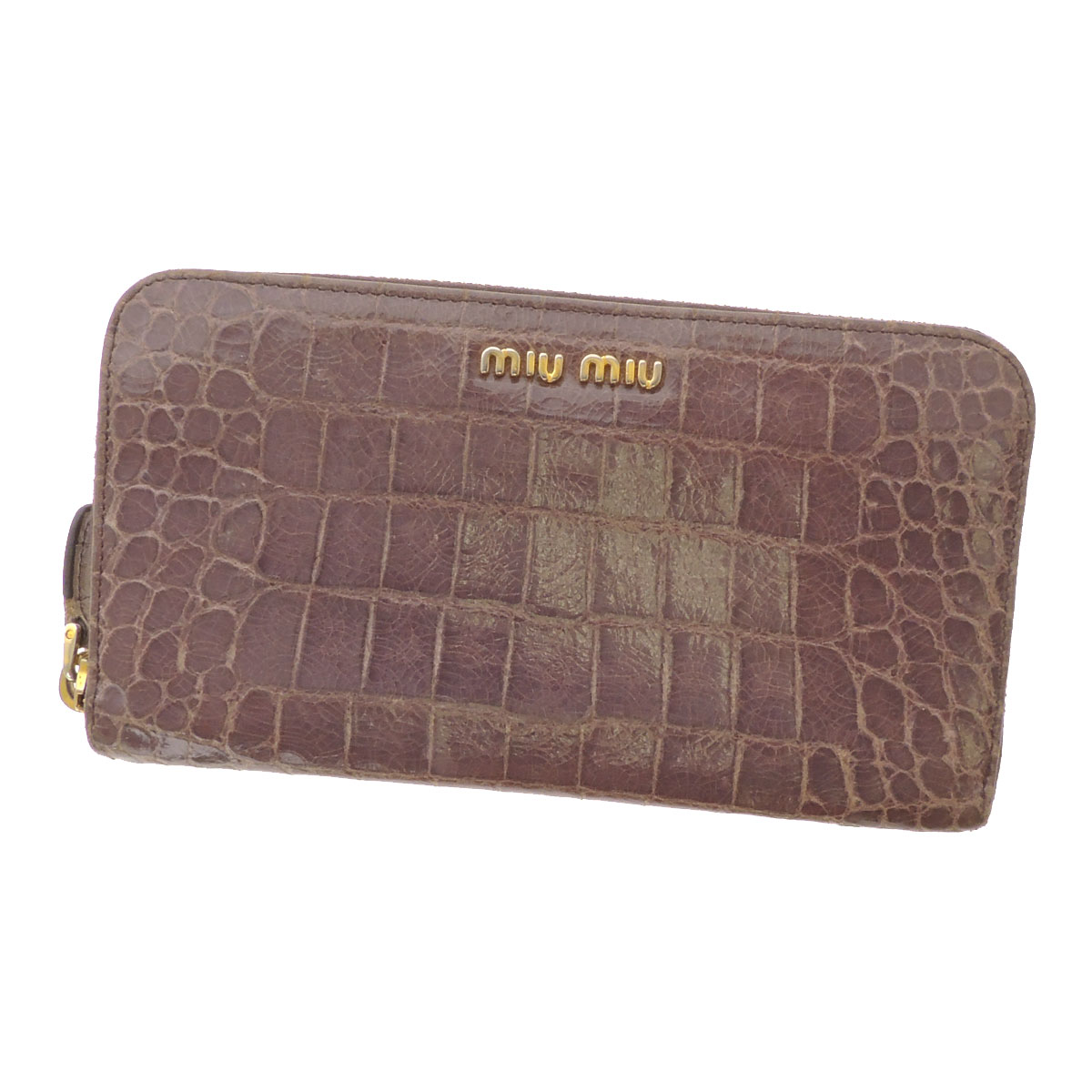 MIUMIU large zip around wallets (purses and) leather ladies