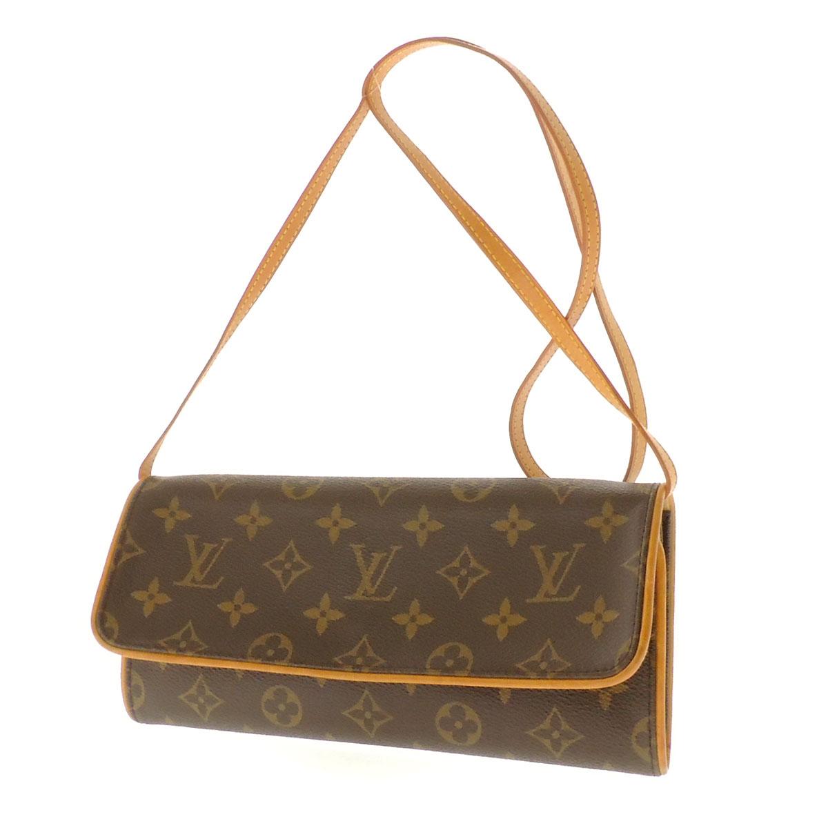 LOUIS VUITTON ポシェトツイン GM M51852 shoulder bag monogram canvas Lady's fs3gm