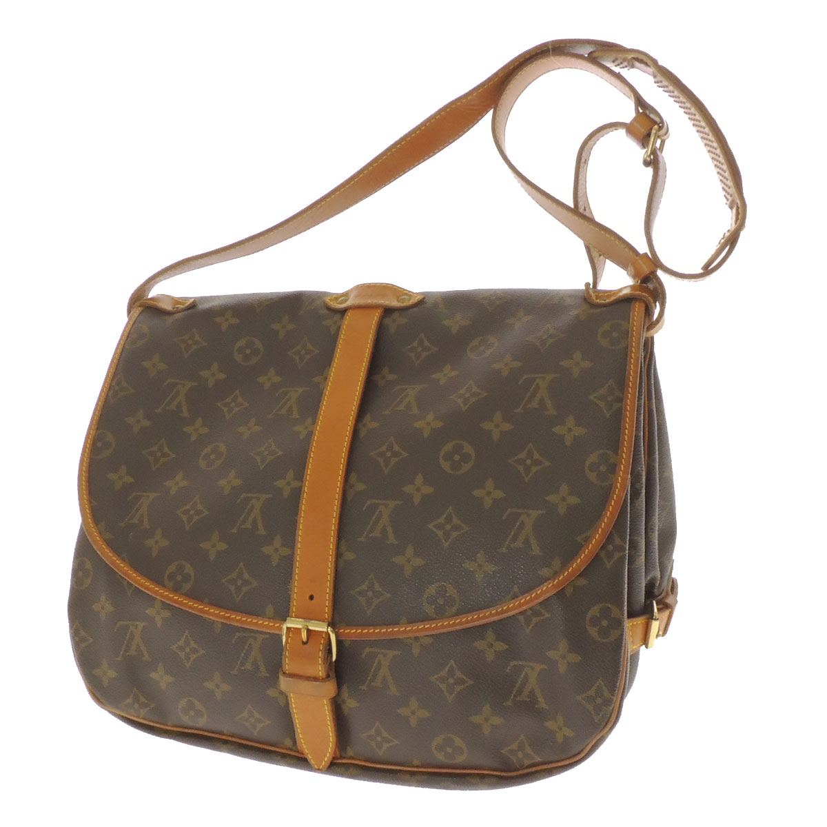 LOUIS VUITTON ソミュール L M42254 shoulder bag monogram canvas Lady's fs3gm