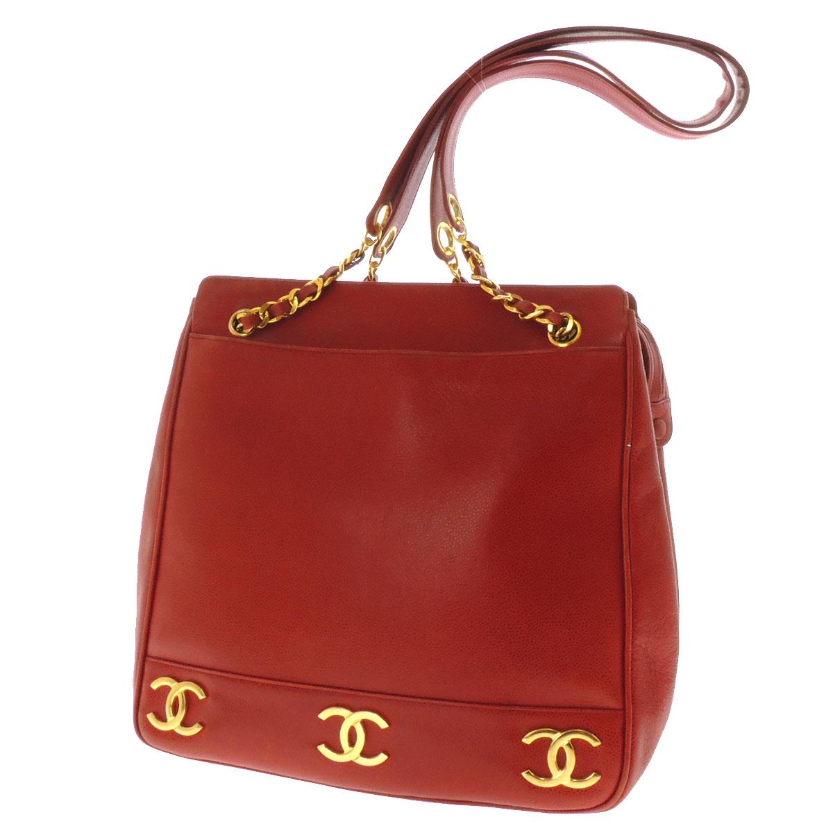 CHANEL chain Coco make shoulder bag caviar skin ladies