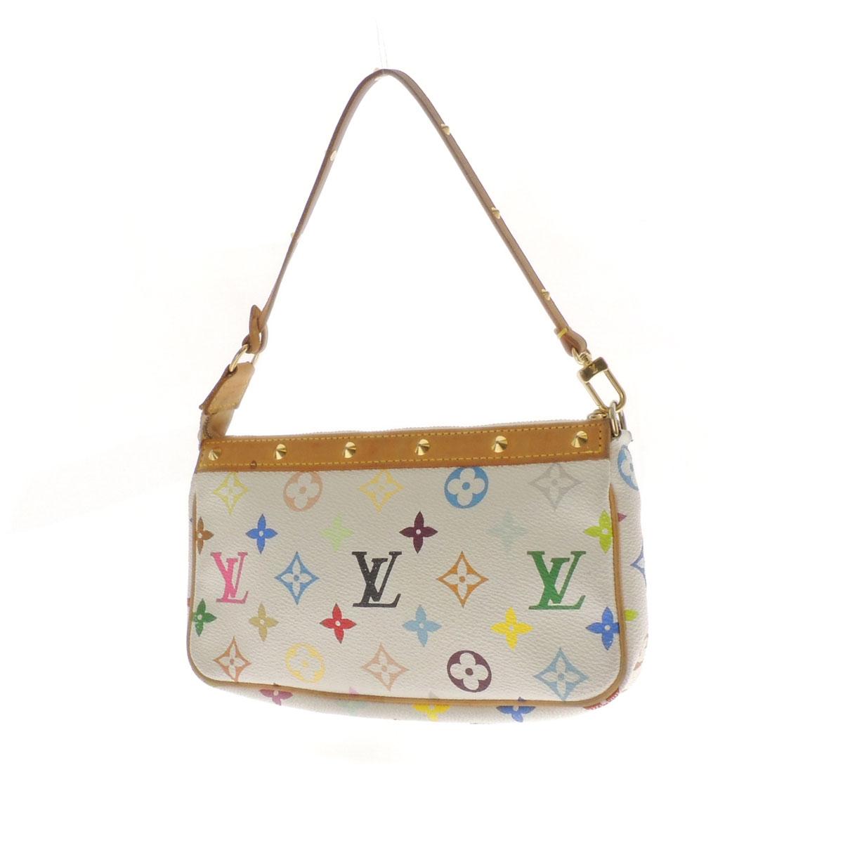LOUIS VUITTON ポシェットアクセソワール M92649 accessory pouch multi-colored Monogram Canvas ladies fs3gm