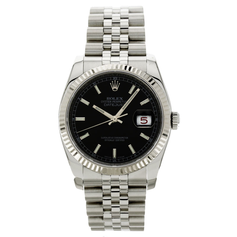 ROLEX 116234 new. Datejust wristwatch stainless steel mens fs3gm