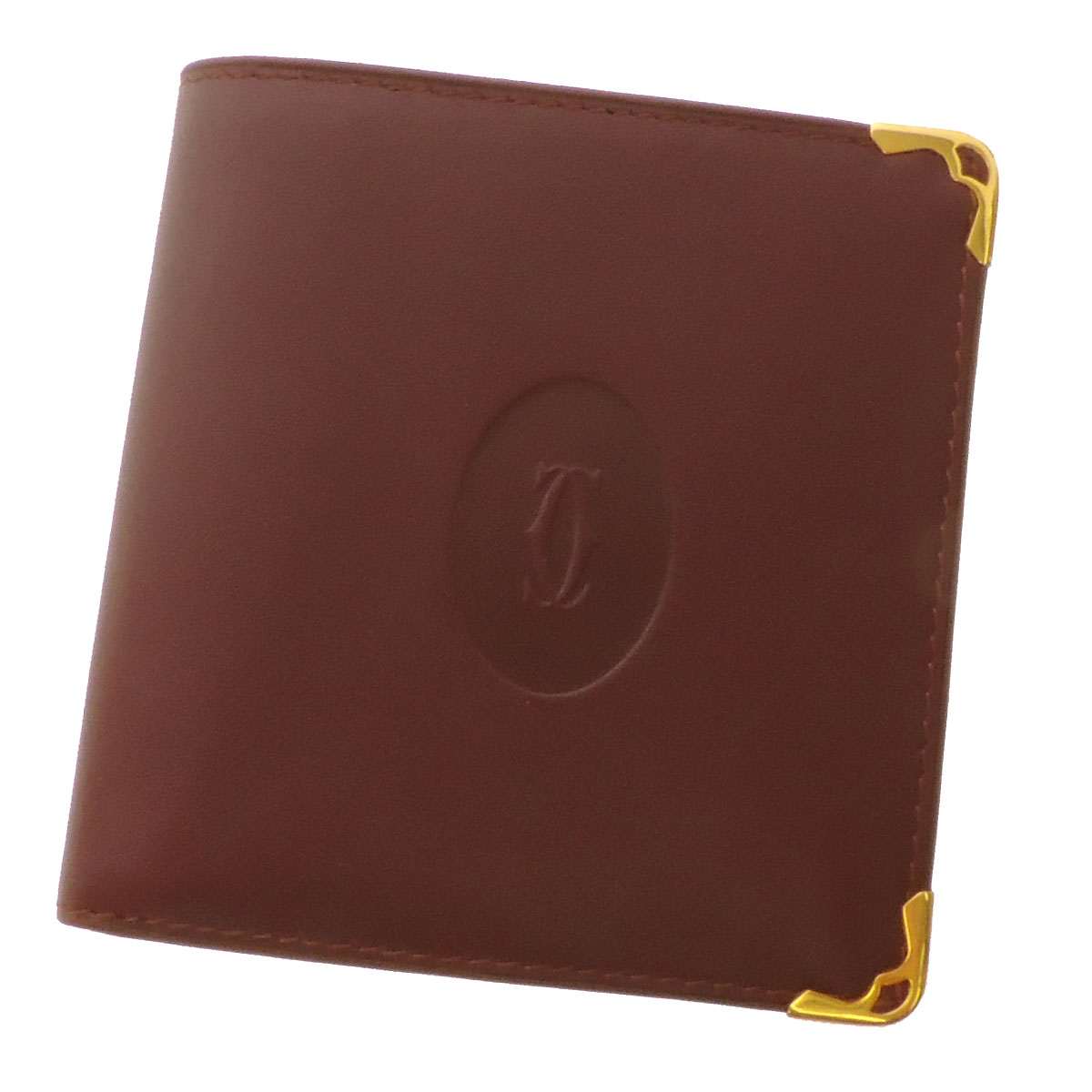 CARTIER must line two bi-fold wallets (purses and) leather unisex