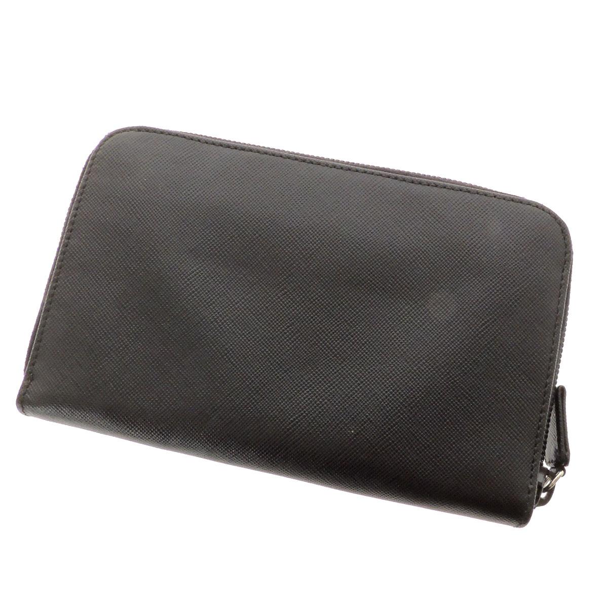 PRADA zip two bi-fold wallets (purses and) leather ladies