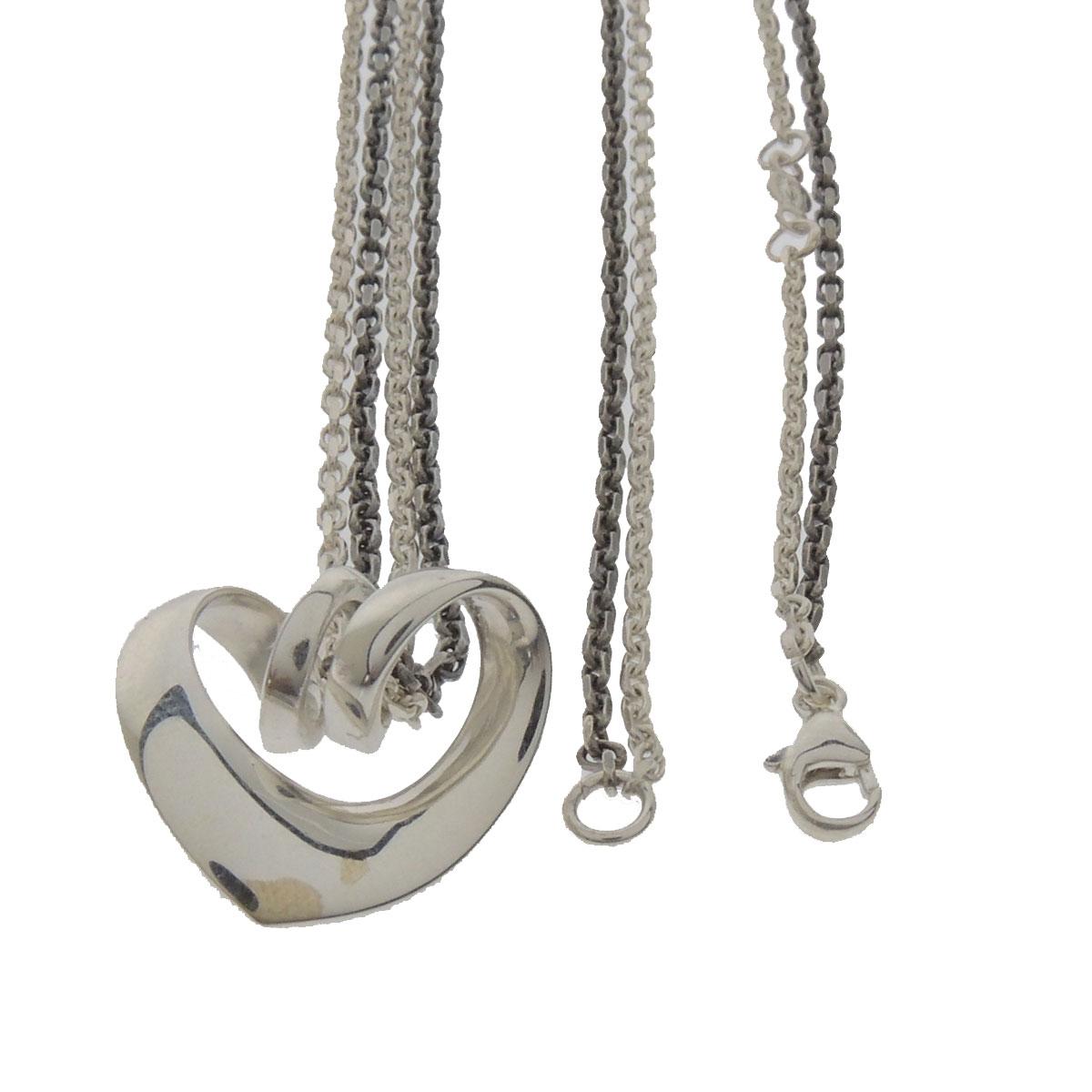 Georg Jensen heart motif double chain necklace - ladies fs3gm