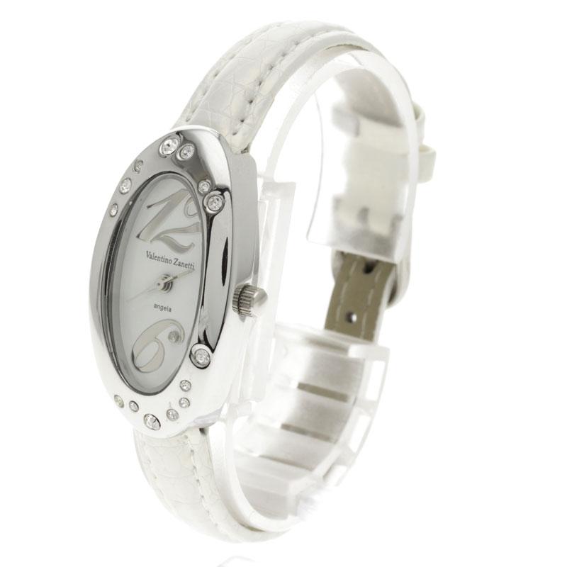 Valentino Zanetti斯通Oval钟表手表不锈钢/白革女士