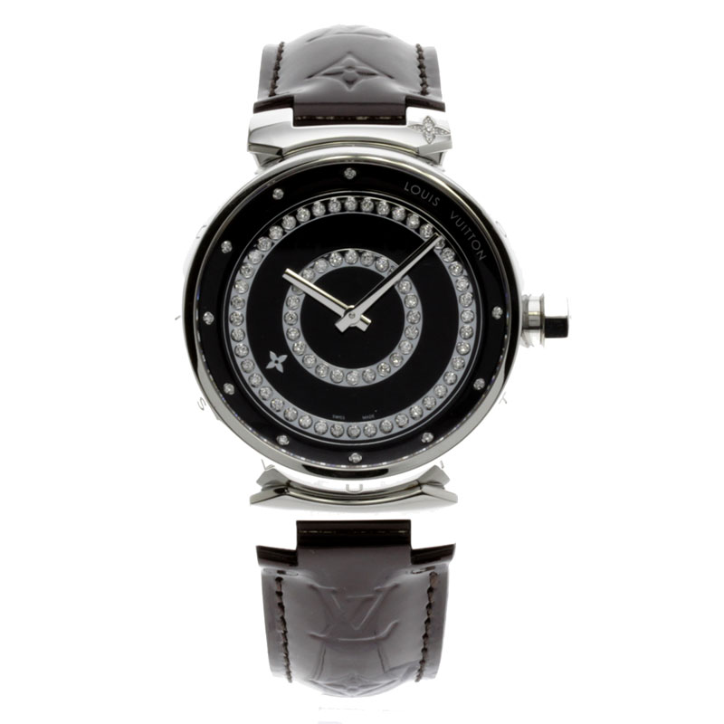 LOUIS VUITTON tambour amateur Lunt Deer mon GM Q111CO watch stainless steel / ヴェルニメンズ fs3gm