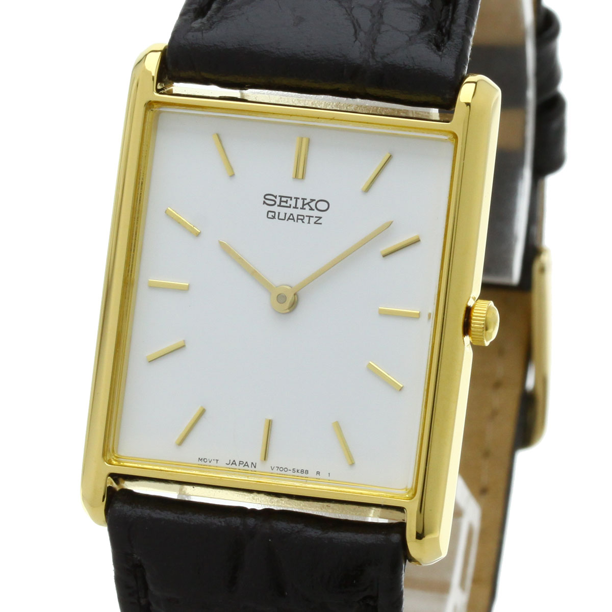 SEIKO V700-5K30 watch GP/ leather men upup7
