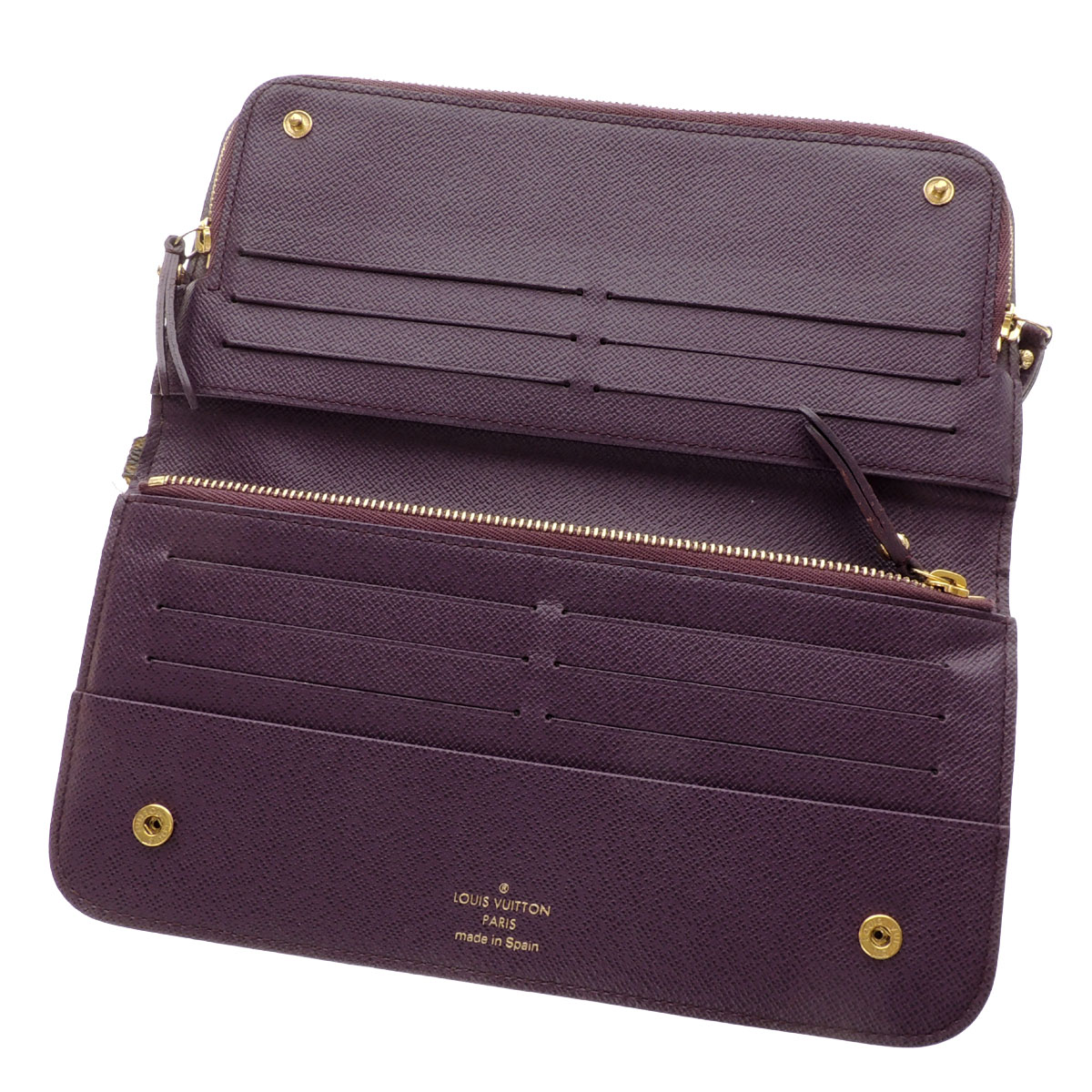 LOUIS VUITTON ポルトフォイユ アンソリット N63071 double nap long wallet (there is a coin purse) monogram canvas Lady's