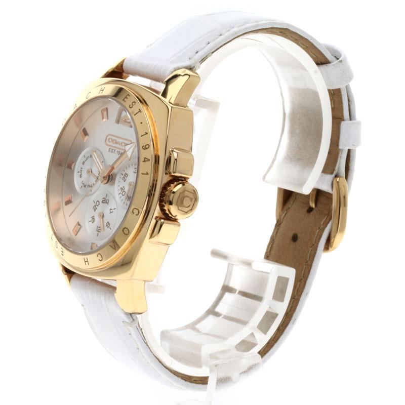 男子的COACH CA.43.7.34.0522手表不锈钢/白革fs04gm