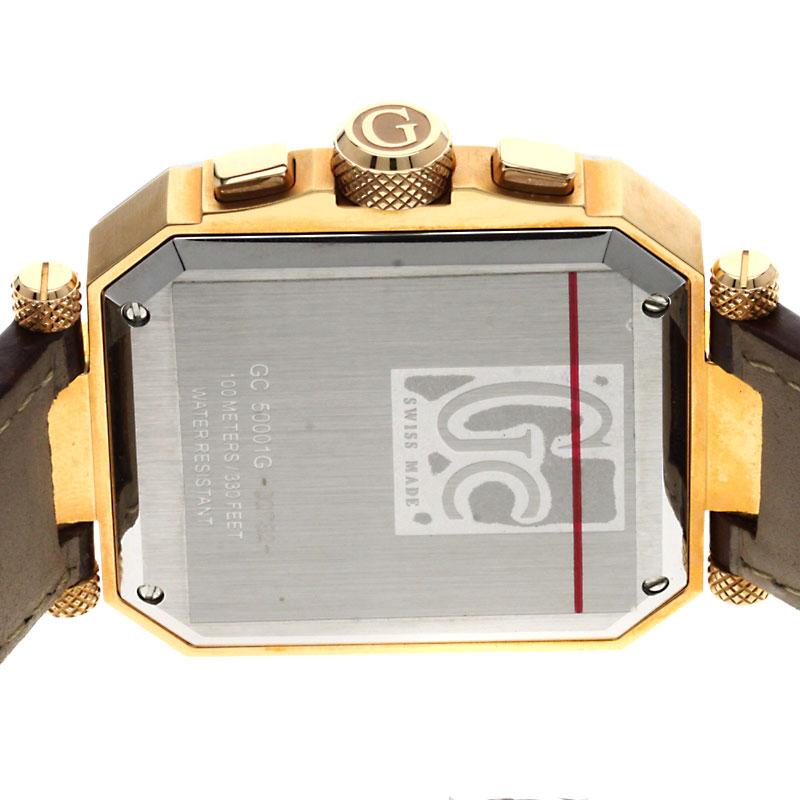 男子的Guess GC50001G手表GP/皮革fs04gm