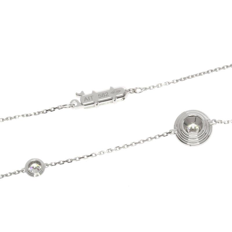 卡地亚爱之钻石项链 K18 白金女士