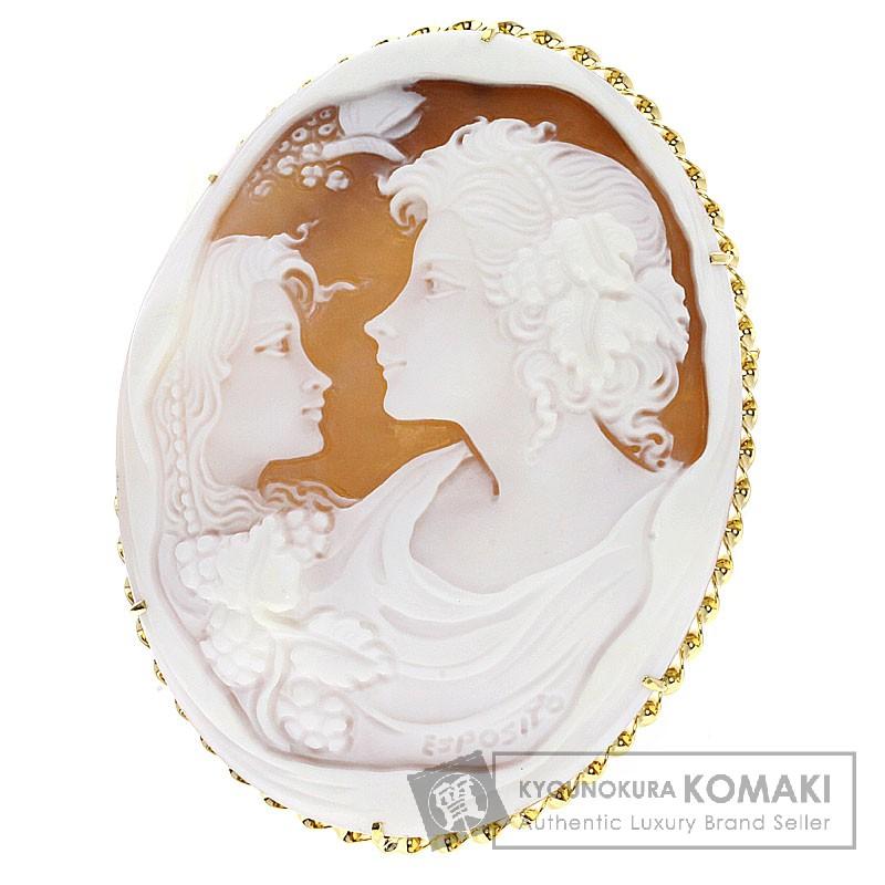 カメオ エスポジート ブローチ K18イエローゴールド レディース 【中古】