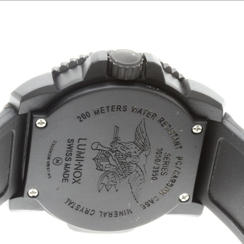 Authentic LUMINOX 3950 limited edition Navy SEALs Watch stainless steel Rubber  Men