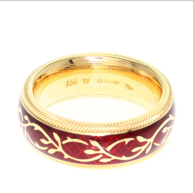 MIKIMOTO七宝uorendorufuemaiyuringu、戒指K18黄色黄金女士