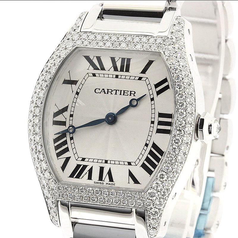 K18 白金男装卡地亚钻石手表的资助提出