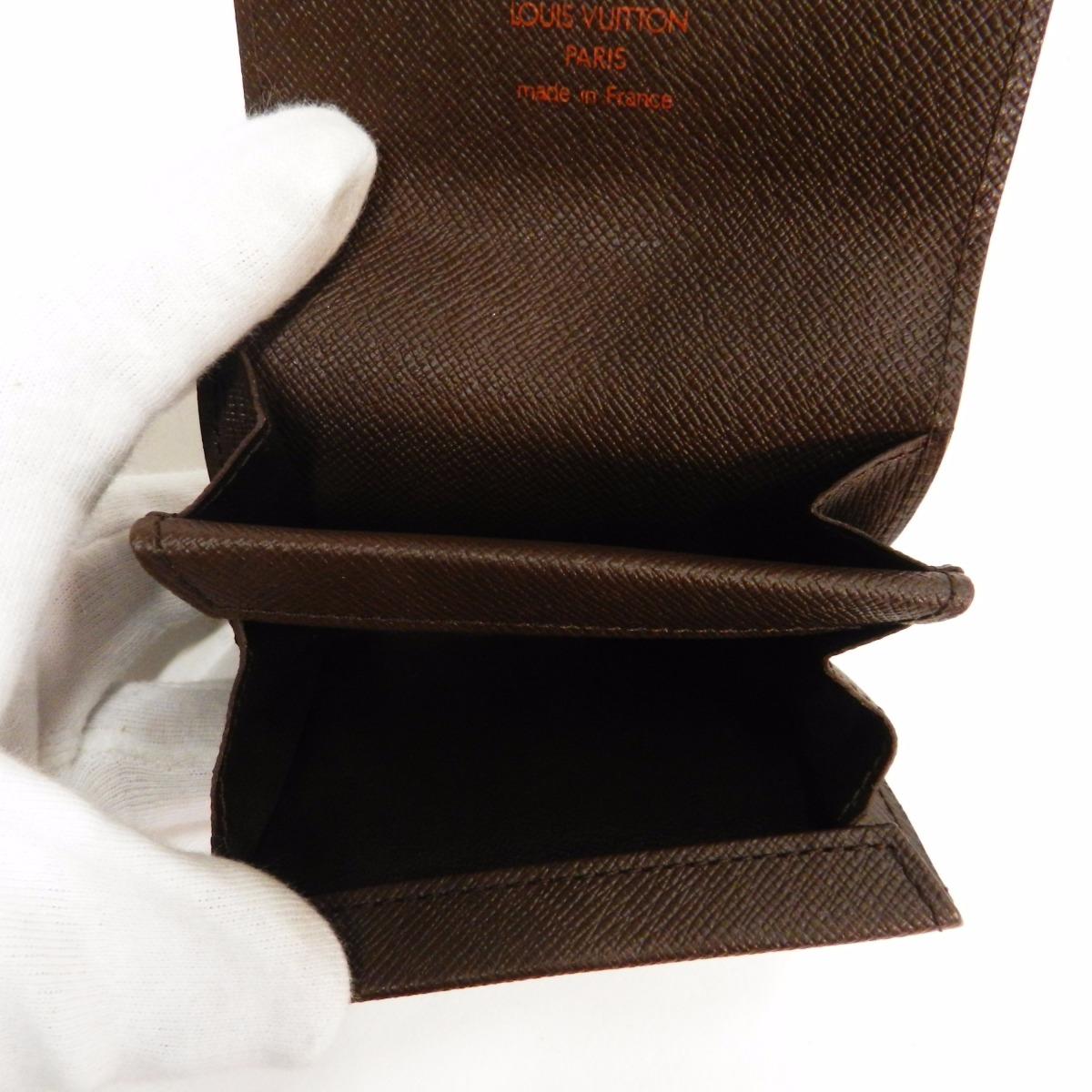 Authentic LOUIS VUITTON  Porutomone · Plat N61930 Coin case Damier Canvas