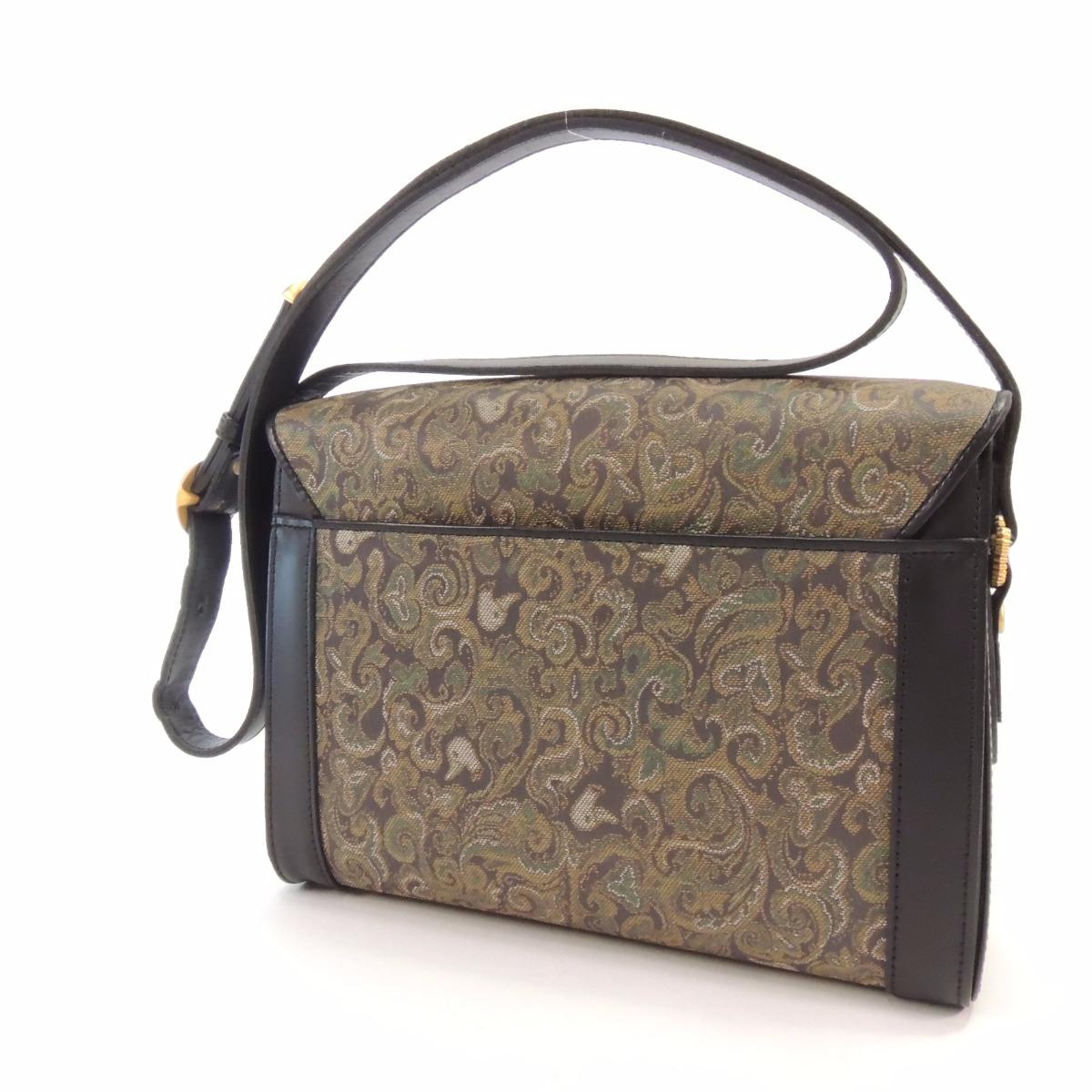 Gentleman Duck佩斯利鸭子花纹挎包表面涂层帆布/皮革女士