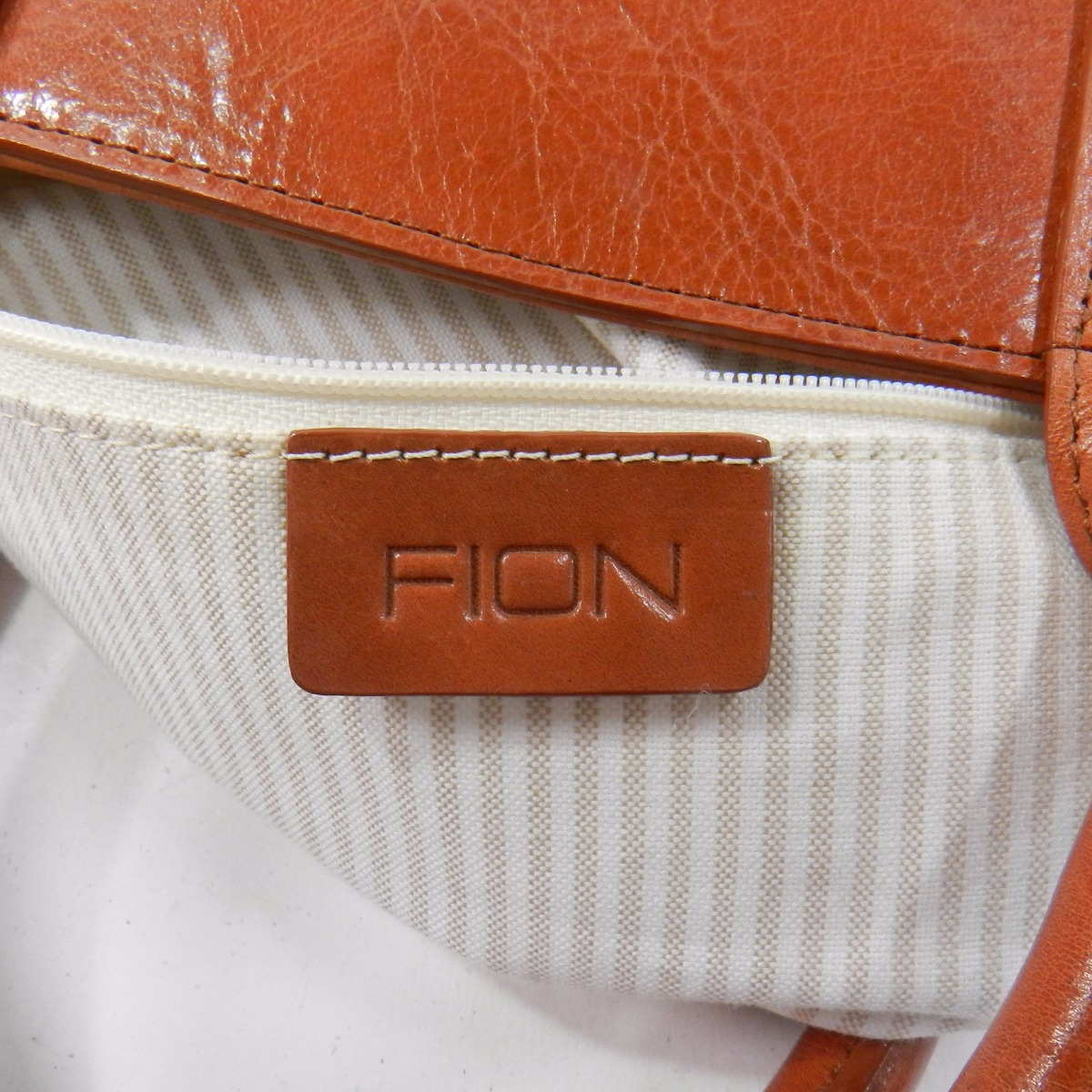 FION标识型推手提包皮革女士