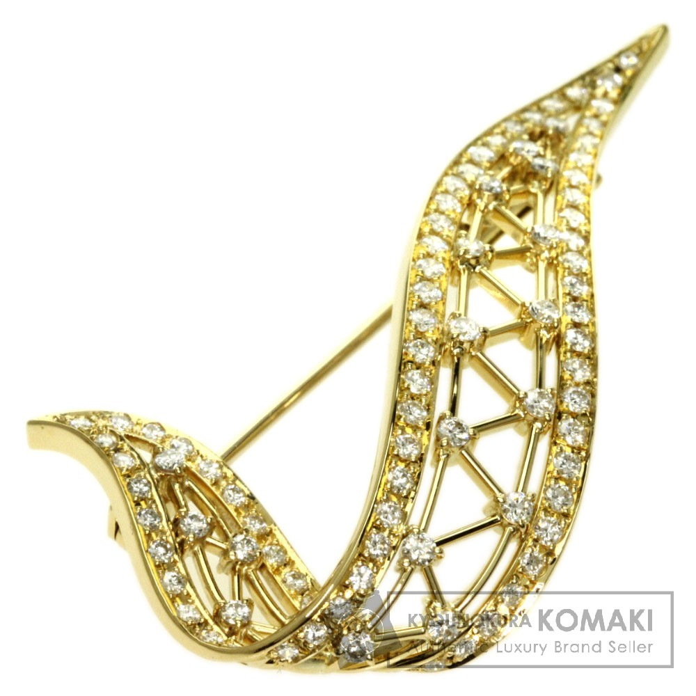 1.16ct ダイヤモンド ブローチ K18イエローゴールド 7.7g レディース 【中古】
