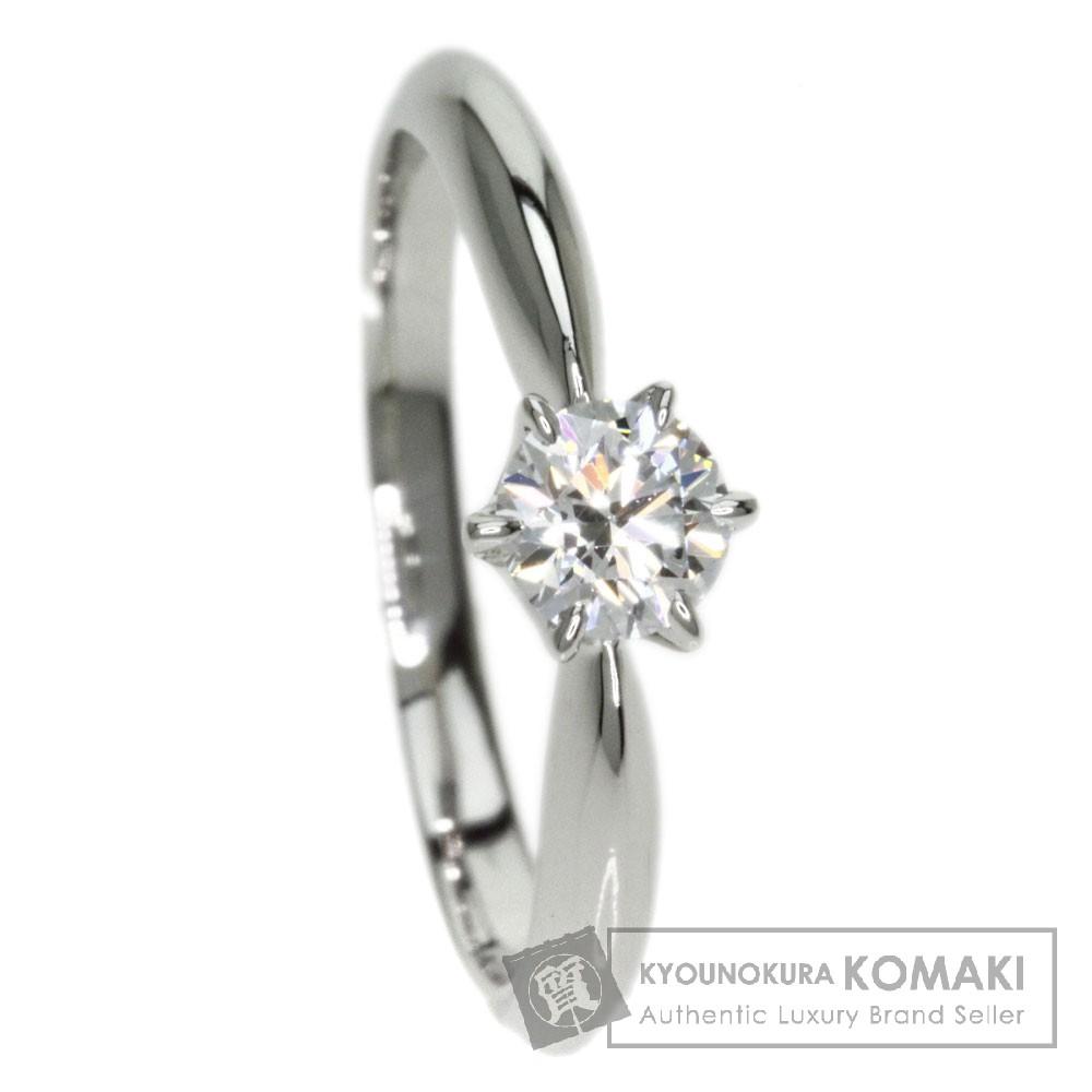 MIKIMOTO【ミキモト】 ダイヤモンド D-VS2 EX リング・指輪 プラチナPT950 レディース 【中古】