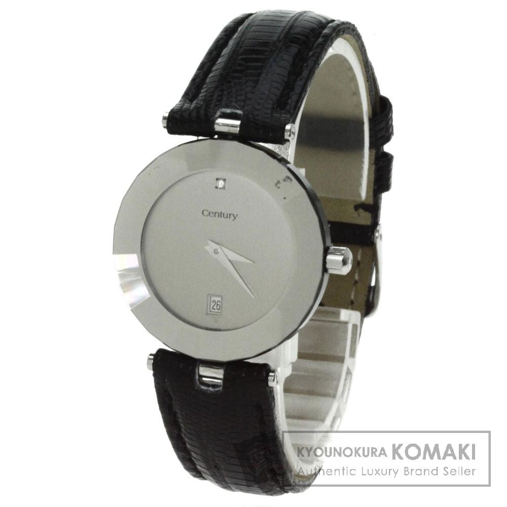 CENTURY【センチュリー】 1Pダイヤモンド 腕時計 SS/リザード ボーイズ 【中古】