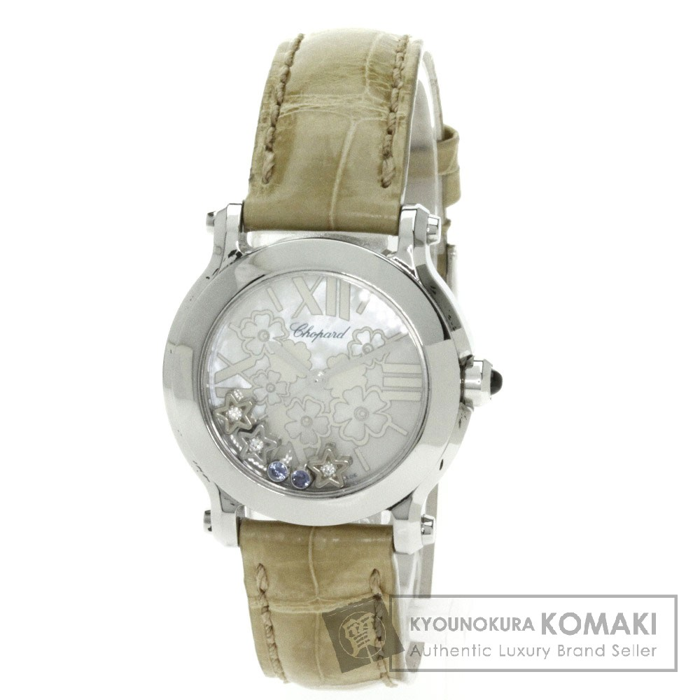 Chopard 27/8509 ハッピースポーツ 腕時計 ステンレス/アリゲーター レディース 【中古】【ショパール】