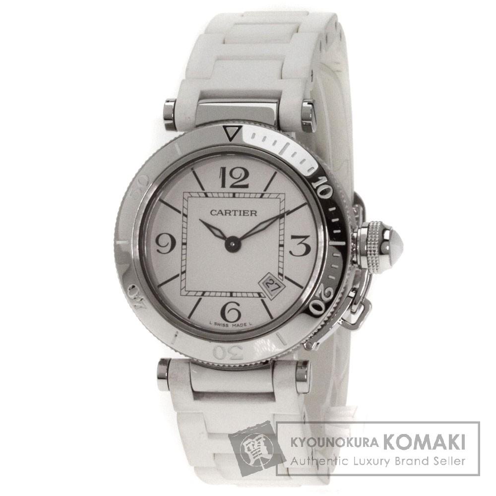 CARTIER パシャC 腕時計 ステンレス/ラバー レディース 【中古】【カルティエ】