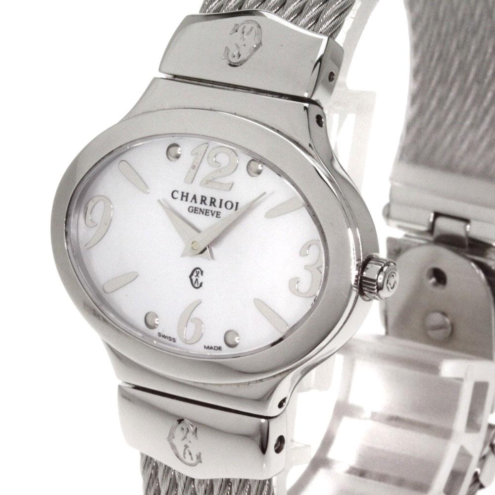 不锈钢妇女的手表钻石椭圆形名表