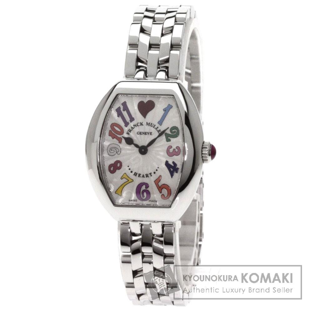 FRANCK MULLER 5002SQZ ハー トゥ ハート トレゾカラードリーム 腕時計 ステンレス レディース 【中古】【フランクミュラー】