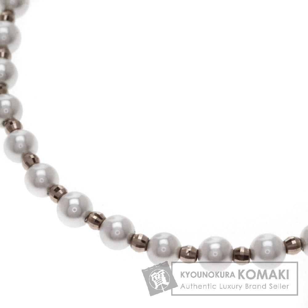 アコヤベビーパール/真珠 ネックレス K18ピンクゴールド 4.7g レディース 【中古】