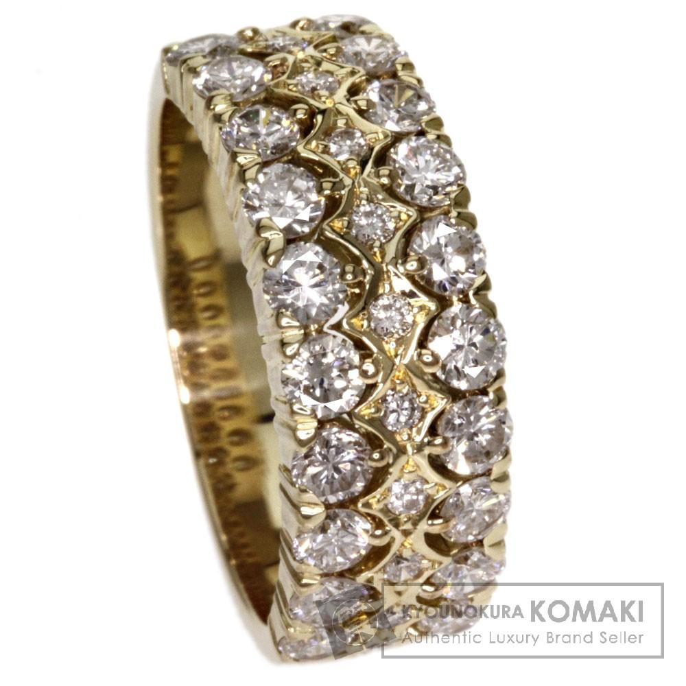 1.38ct ダイヤモンド リング・指輪 K18イエローゴールド 7.1g レディース 【中古】
