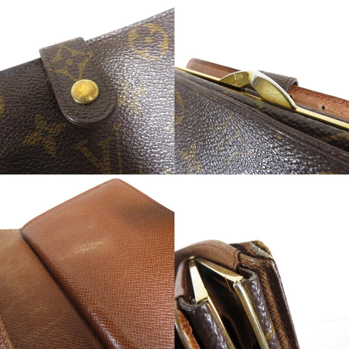 路易 · 威登 portomonewievienova 钱包 M61663 两个折叠钱包 (钱包和) Monogram 帆布女士