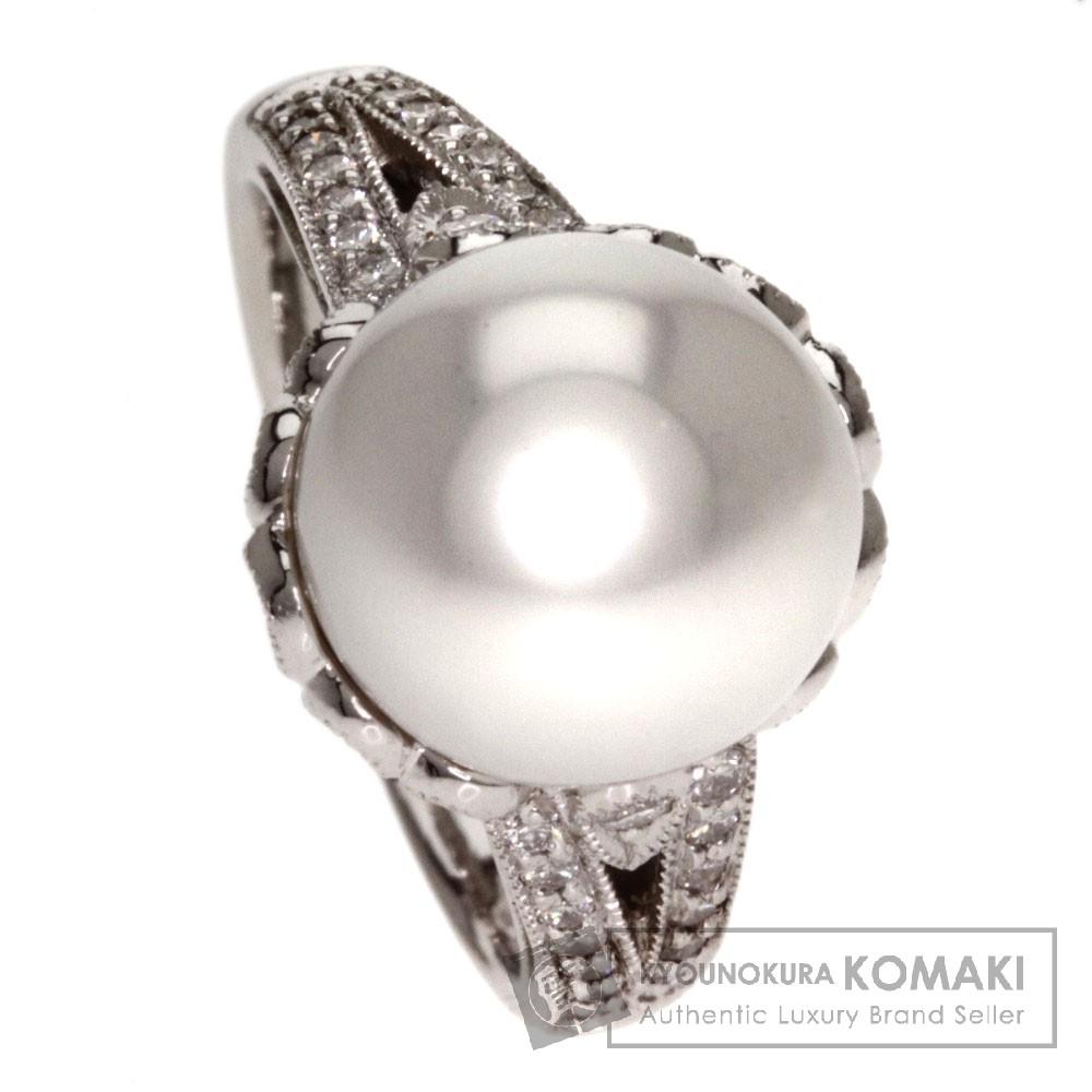 0.62ct 真珠/ダイヤモンド リング・指輪 プラチナPT900 10.2g レディース 【中古】