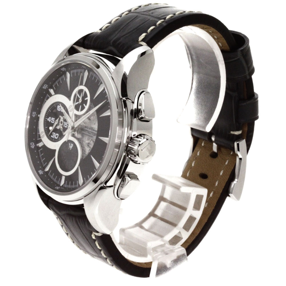 HAMILTONH327560 jazz master opening secret watch OH finished stainless steel / alligator men