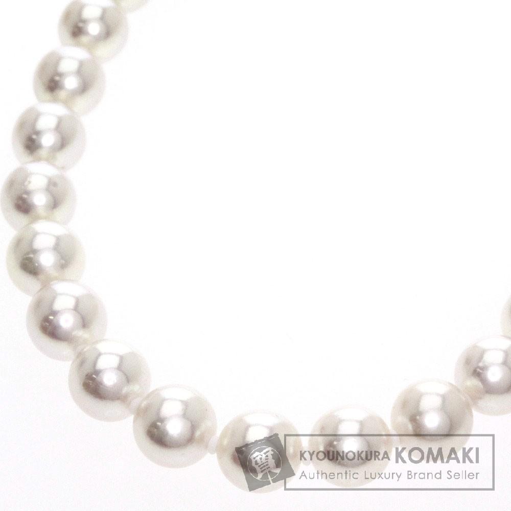 真珠 パール ネックレス シルバー 32.1g レディース 【中古】