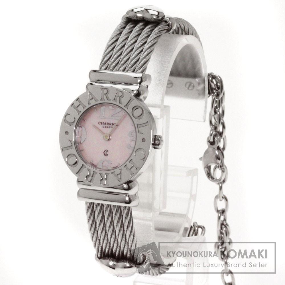 CHARRIOL【シャリオール】028/2 サントロペ 腕時計 ステンレス レディース 【中古】